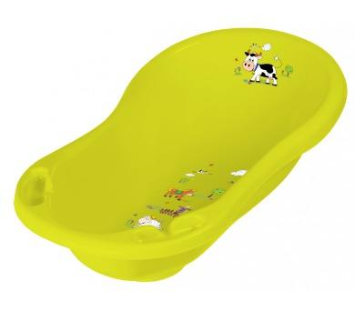 Keeeper Wiktoria Funny Farm dětská vanička žlutozelená 84cm