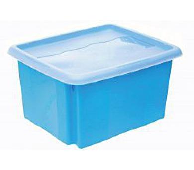Keeeper Emil & Emilia Úložný box s víkem modrý 38x29x20,5cm 15L