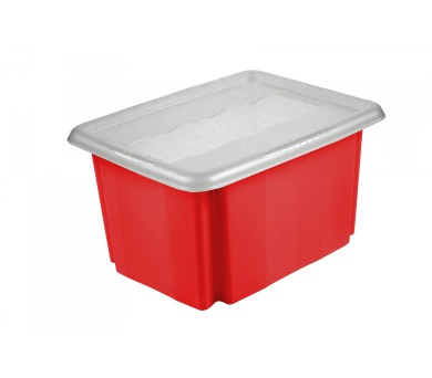 Keeeper Emil & Emilia Úložný box s víkem červený 38x29x20,5cm 15L