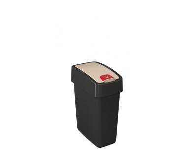 Keeeper Magne Odpadkový koš s víkem tmavě šedá 10L