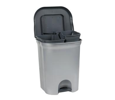 Keeeper Torge Nášlapný odpadkový koš světle šedý 2x11L + DOPRAVA ZDARMA