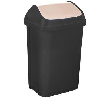 Keeeper Swantje Odpadkový koš s kyvným víkem tmavě šedý 10L