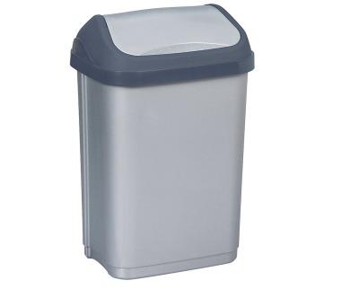 Keeeper Swantje Odpadkový koš s kyvným víkem světle šedý 10L