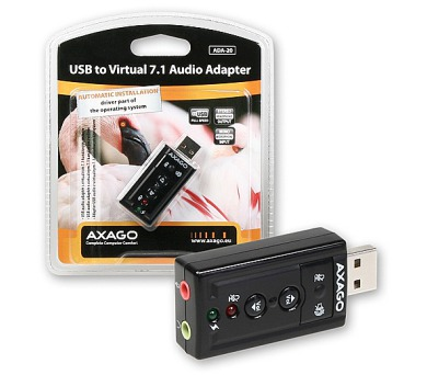 AXAGO USB2.0 - virtual 7.1 audio adapter (ADA-20)