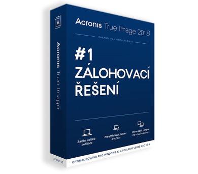 Acronis True Image 2018 - 1 Computer - BOX Upgrade (TIHOUB2CZS)