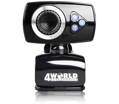 4World Webkamera 2M LED USB Black/Silver (10133)