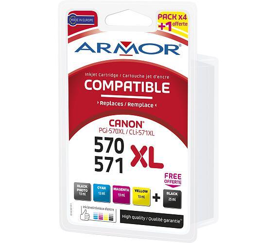 Armor multipack pro Canon PGI570BK/CLI-571 XLBKCMY (B10381R2) + DOPRAVA ZDARMA