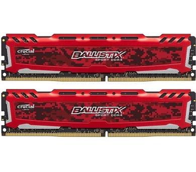 Crucial Ballistix Sport LT Red CL16 SRx8 uDIMM kit 2x8GB