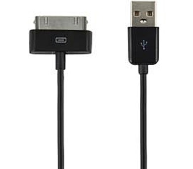 4World Kabel USB 2.0 pro iPad/iPhone/iPod 1m černý (07932-OEM)