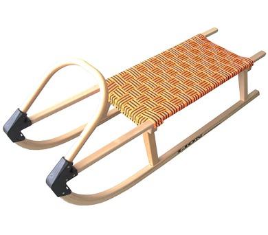 Acra sáně 110cm dřevěné A2041 oranžové