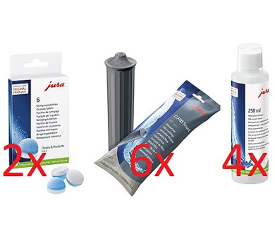 JURA CLARIS Smart filtr + JURA čistící tablety + JURA Cappuccino čistič + DOPRAVA ZDARMA