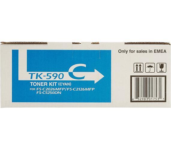 Kyocera toner TK-590C/ FS-C2026MFP/ C2126MFP/ 5 000 stran/ Modrý