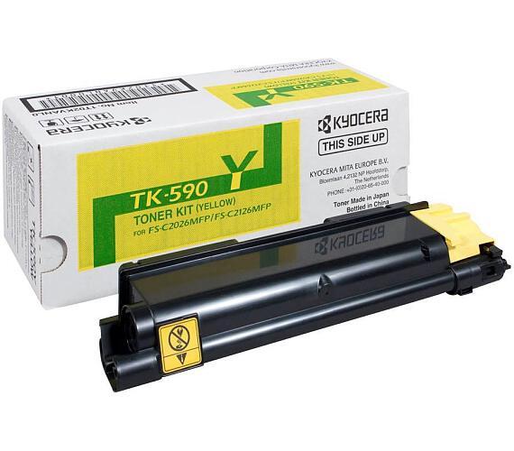 Kyocera toner TK-590Y/ FS-C2026MFP/ C2126MFP/ 5 000 stran/ Žlutý