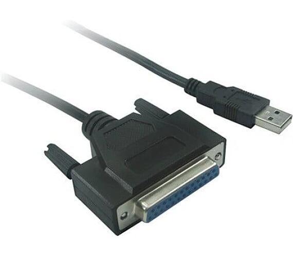 PremiumCord Konvertor USB 2.0 na paralelní port DB25F