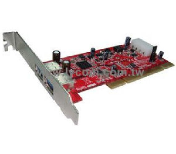 Kouwell UB-125 PCI I/O karta 2x USB3.0 port NEC chip Low profille