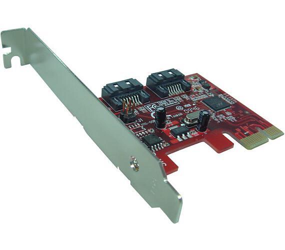 Kouwell PE-115H PCI-E Karta 2x SATAIII 6Gbps/ Včetně low profille