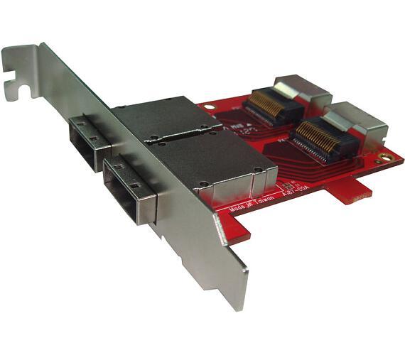Kouwell ST-187 PCI-E Konvertor miniSAS na SAS/ Včetně Low profile + DOPRAVA ZDARMA