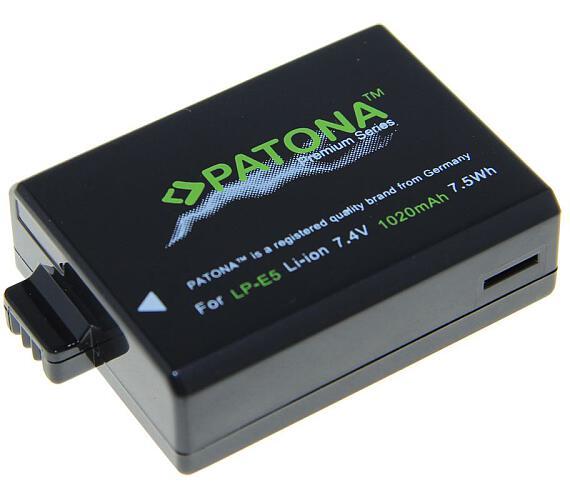 PATONA baterie pro foto Canon LP-E5 1020mAh Li-Ion Premium