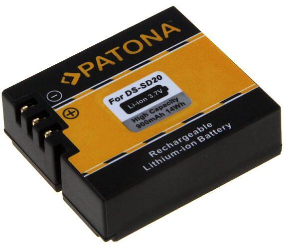 PATONA baterie pro digitální kameru Rollei DS-SD20 900mAh Li-Ion (PT1234)