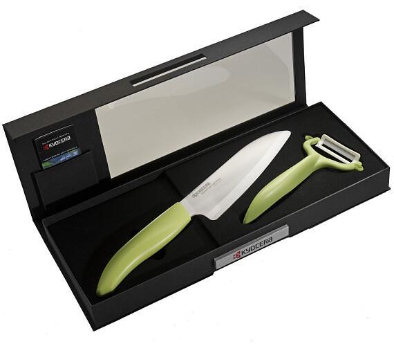 KYOCERA Dárkové balení/ keramické nože FK-140WH-GR + CP-10NGR (zelený)