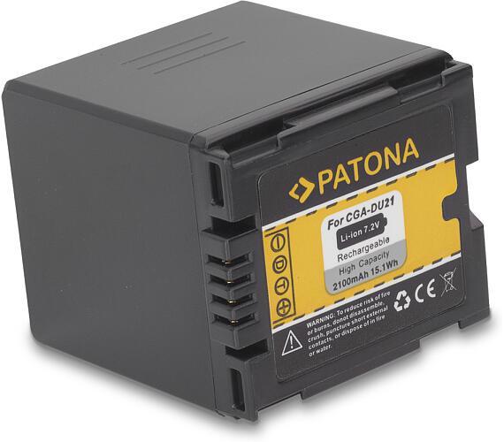 PATONA baterie pro digitální kameru Panasonic CGA-DU21 2100mAh (PT1046)