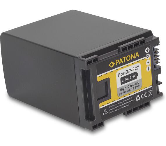 PATONA baterie pro digitální kameru Canon BP-827 2000mAh (PT1145)