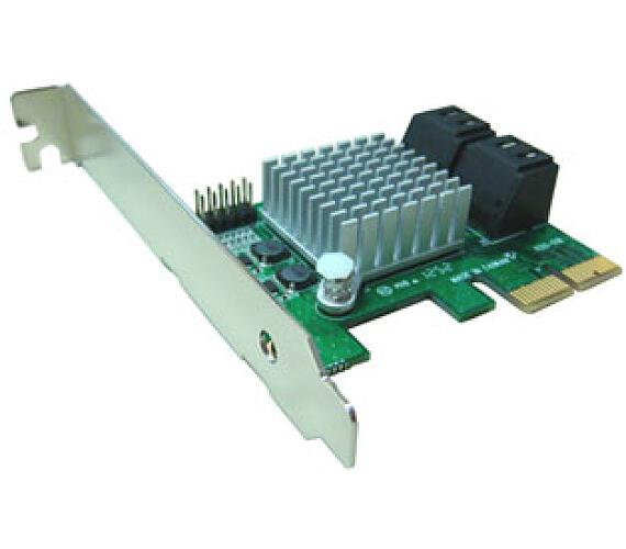 Kouwell PE-120 AHCI SATA III – 6Gbps Internal 4Ports LowProfile PCIe 2.0 Host Adapter