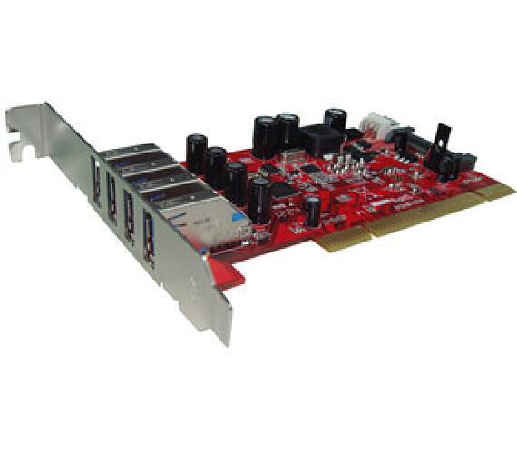 Kouwell UB-124N PCI I/O karta 4x USB3.0 porty Low profille + DOPRAVA ZDARMA