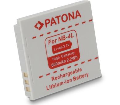 PATONA baterie pro foto Canon NB-4L 600mAh