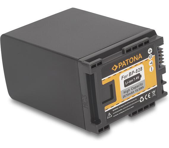 PATONA baterie pro foto Canon BP-828 2670mAh Li-Ion + DOPRAVA ZDARMA