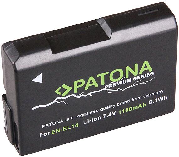 PATONA baterie pro foto Nikon EN-EL14 1100mAh Li-Ion Premium (PT1197) + DOPRAVA ZDARMA