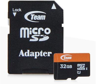 TEAM 32GB Micro SDHC Xtreem/ UHS-1/ + SD adaptér (TUSDH32GUHS03)