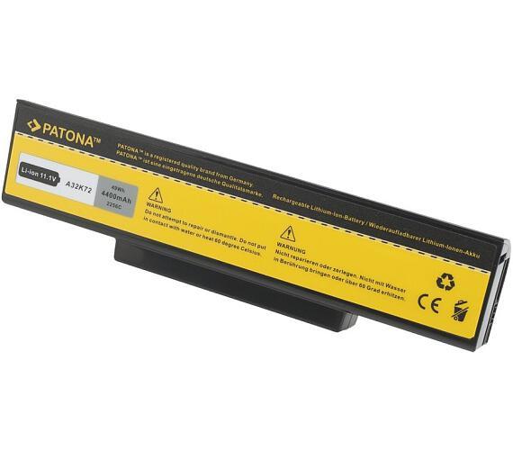 PATONA baterie pro ntb ASUS K72 K72DR K72DY 4400mAh 10,8V černá + DOPRAVA ZDARMA