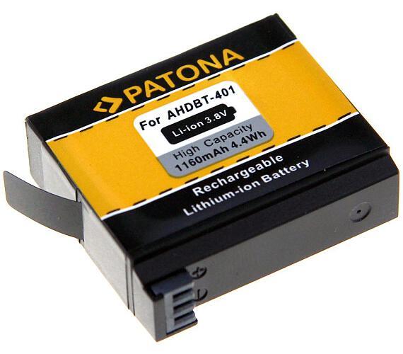 PATONA baterie pro digitální kameru GoPro Hero 4 AHDBT-401 1160mAh Li-Ion (PT1235)