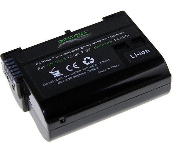 PATONA baterie pro foto Nikon EN-EL15 2000mAh Li-Ion Premium (PT1224) + DOPRAVA ZDARMA
