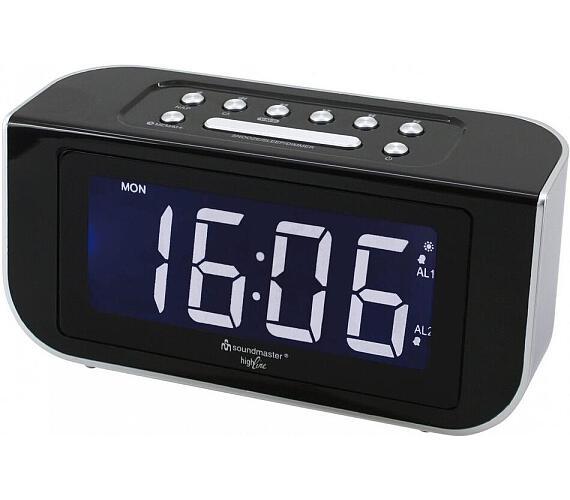 Soundmaster FUR4005 radiobudík / FM / kalendář / rádiem řízený čas / černý