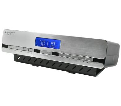 Soundmaster UR2006 kuchyňské rádio / RDS / rádiem řízený čas / stříbrný