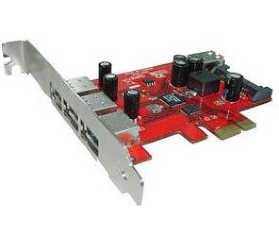 Kouwell UB-119 PCI-E karta 3x USB3.0 port/ 1x interní/ včetně Low profille