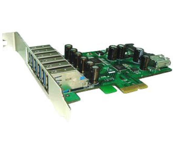 Kouwell UB-127 PCI-E karta 6x USB3.0 port/ 1x interní/ včetně Low profille