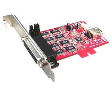 Kouwell IO-114 PCI-E I/O karta převodník z 1x USB na 4x sériový port