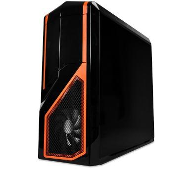 NZXT skříň Phantom 410/MidTower/bez zdroje/USB3.0+USB2.0/ATX/černá/oranžová (CA-PH410-B3) + DOPRAVA ZDARMA