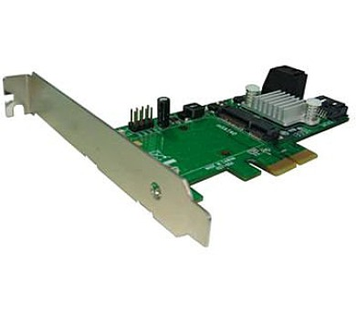 Kouwell PE-127/ PCI-E řadič/ 3x SATA / 1x mSATA/ Low profile
