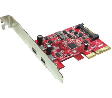Kouwell UB-135 PCI-E karta 2x USB3.1 port/ včetně Low profille