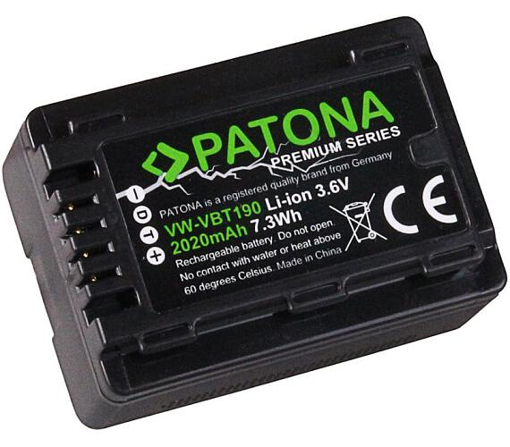 PATONA baterie pro videokameru Panasonic VBK180 2020mAh Li-Ion Premium + DOPRAVA ZDARMA