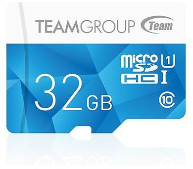 TEAM 32GB-HC Micro SDHC / UHS-1/ modrá
