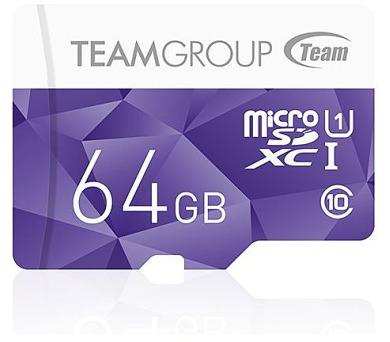 TEAM 64GB-XC Micro SDXC/ UHS-1/ fialová (TCUSDX64GUHS41)