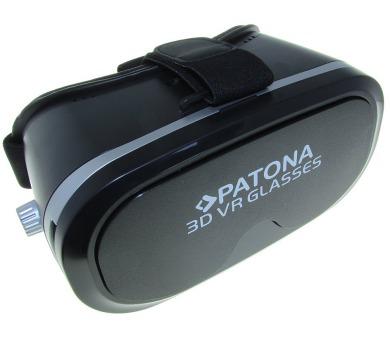 """PATONA 3D brýle pro virtuální realitu/ Smartphone 3,5""""-5""""/ černé"""