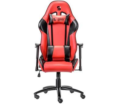 SPC Gear SR300 RD herní židle červená - kožená + DOPRAVA ZDARMA