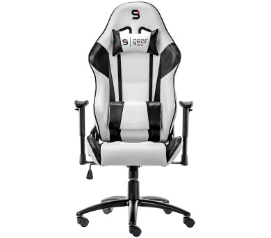 SPC Gear SR300 WH herní židle bílá - kožená (SPG003) + DOPRAVA ZDARMA