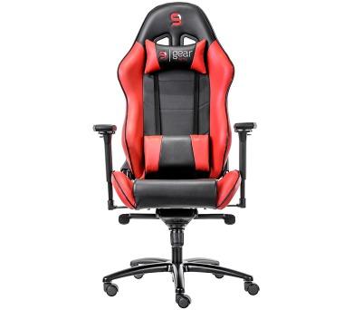 SPC Gear SR500 RD herní židle červená - kožená (SPG006) + DOPRAVA ZDARMA